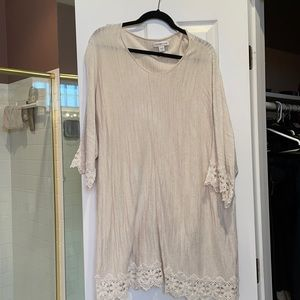 3x coldwater creek 3/4 sleeve tunic w lace